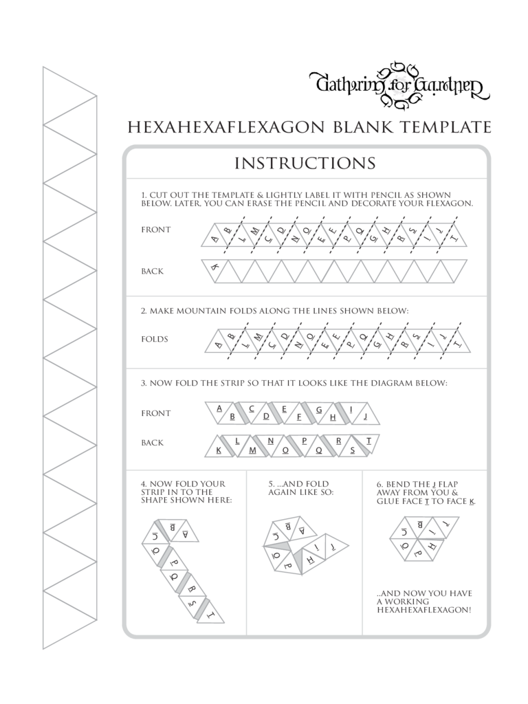 Hexahexaflexagon Blank Template