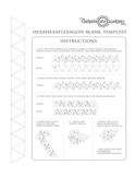 Hexahexaflexagon Blank Template Free Download