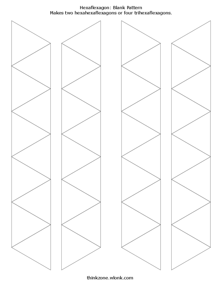 hexahexaflexagon template blank and decorated hexahexaflexagon template free download