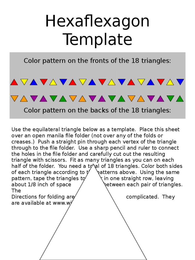 Hexaflexagon template 3 free templates in pdf word for Hexahexaflexagon template