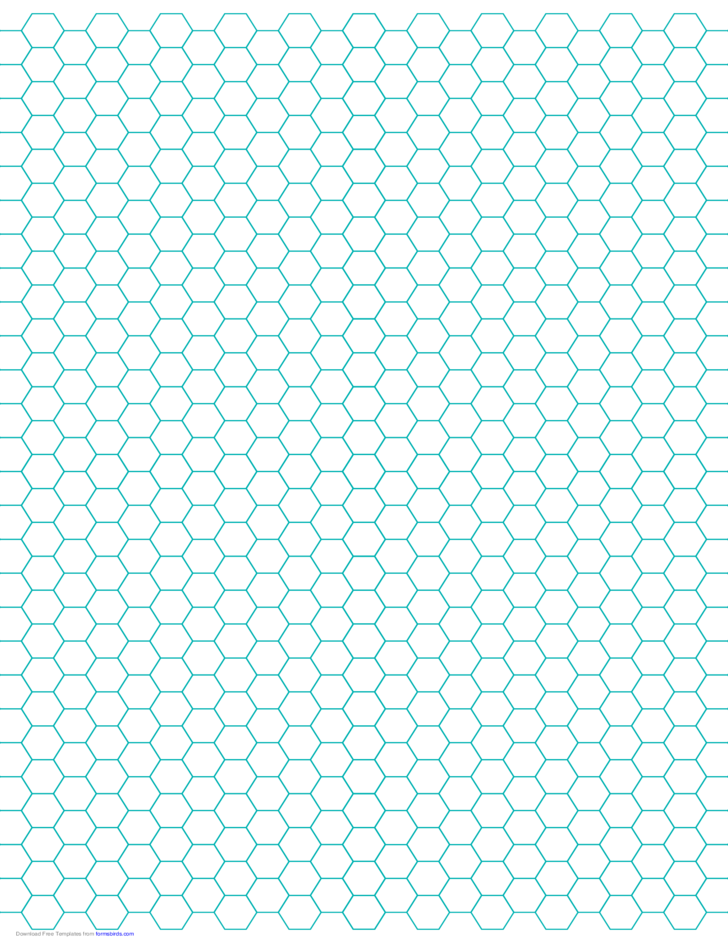 hexagon graph paper with 1 4 inch spacing on letter sized paper free