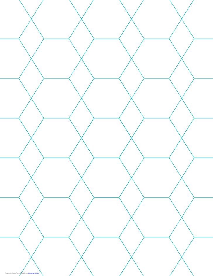 hexagon and diamond graph paper with 1