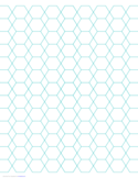 Hexagon and Diamond Graph Paper with 1/2-Inch Spacing on Letter-Sized Paper Free Download