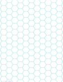 Green Hexagon and Diamond Graph Paper with 1/4-Inch Spacing on Letter-Sized Paper Free Download