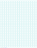 Hexagon and Diamond Graph Paper with 1/4-Inch Spacing on Letter-Sized Paper Free Download