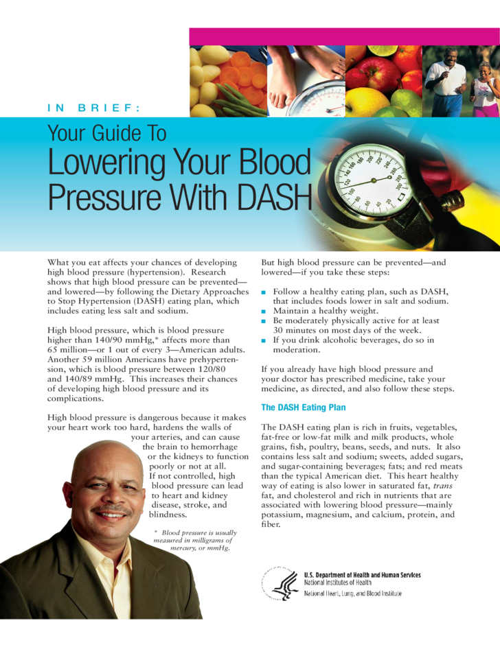 your guide to lowering your blood pressure with dash free