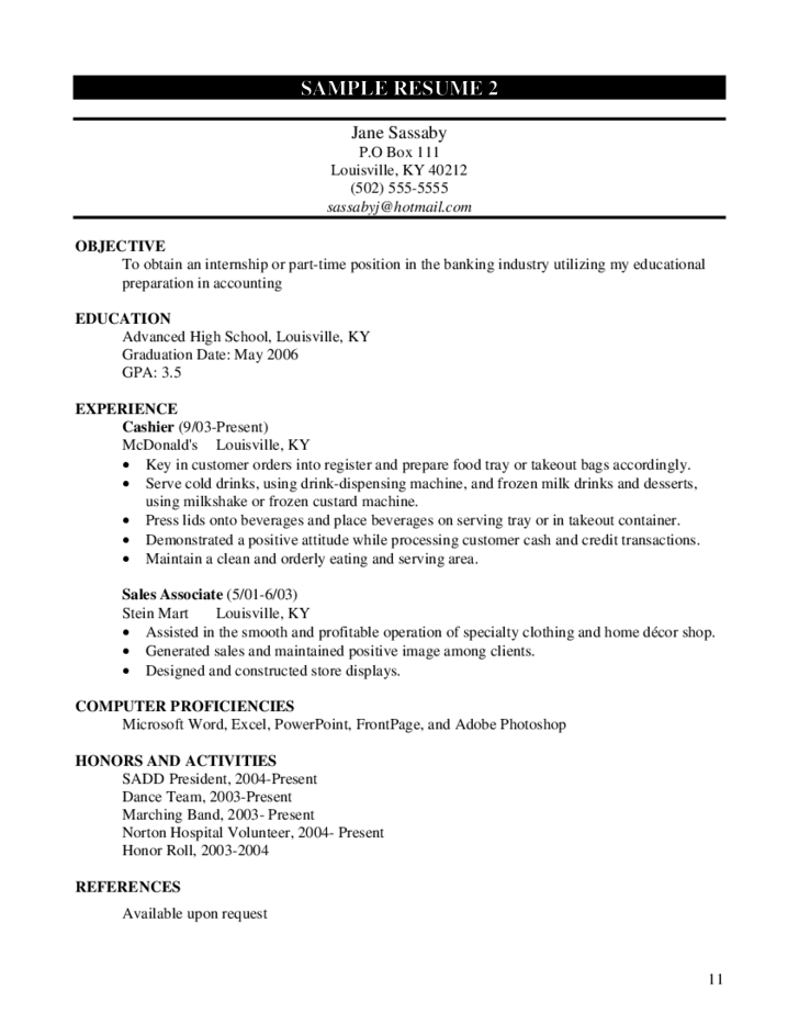 Free worksheets for highschool students worksheets for Free resume for high school student