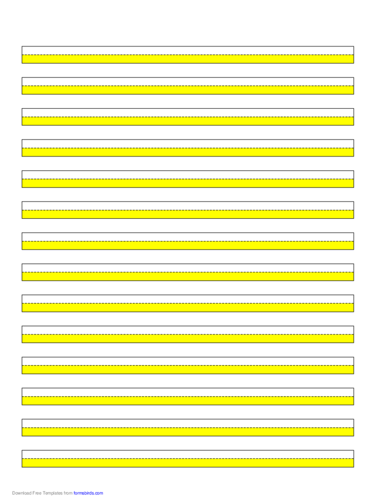 Highlighter Paper - Yellow - 14 Lines