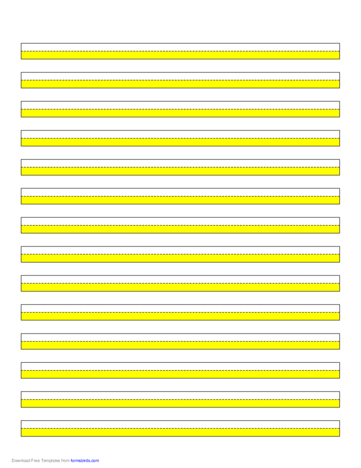 Highlighter Paper Yellow 14 Lines Free Download