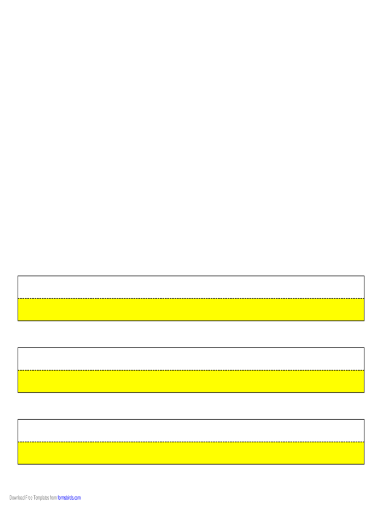 Highlighter Paper - Yellow - 3 Lines