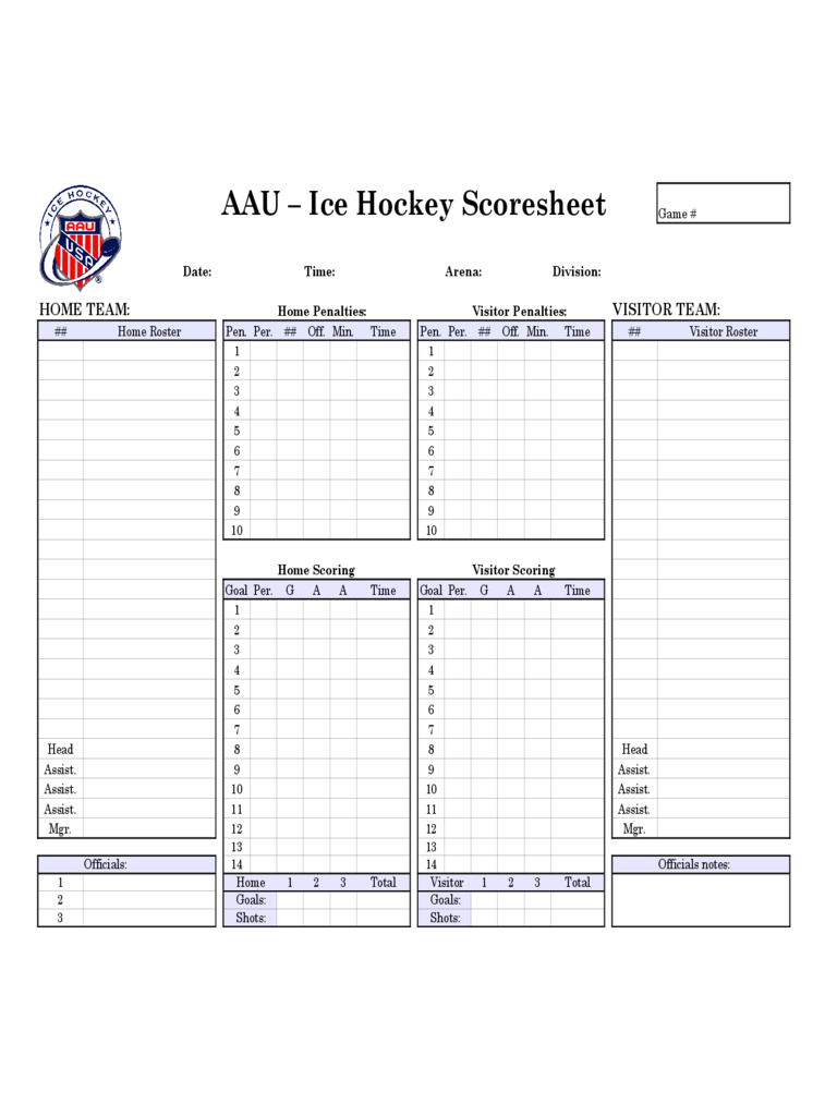 hockey score sheet