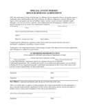 Special Event Permit Hold Harmless Agreement Free Download