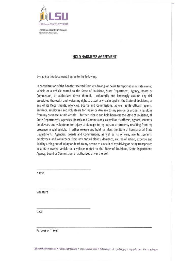 Hold Harmless Agreement - 5 Free Templates in PDF, Word, Excel ...