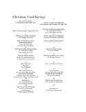 Christmas Card Saying Template Free Download