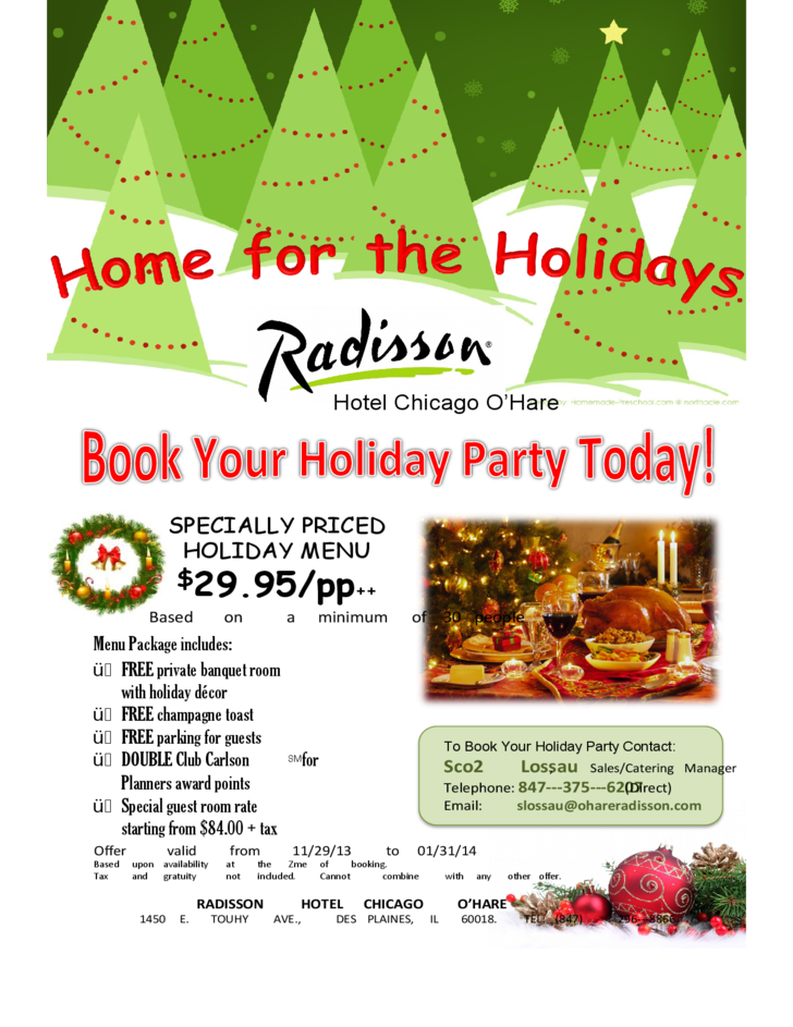 Sample Holiday Event Flyer Free Download