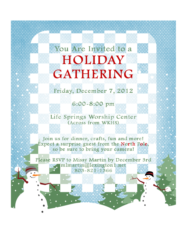 Teen Holiday Event Flyer
