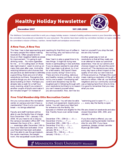Healthy Holiday Newsletter Free Download