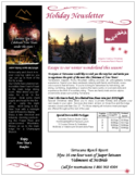 Holiday Newsletter - Terracana Free Download