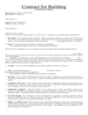 Contract for Building and Repair Free Download