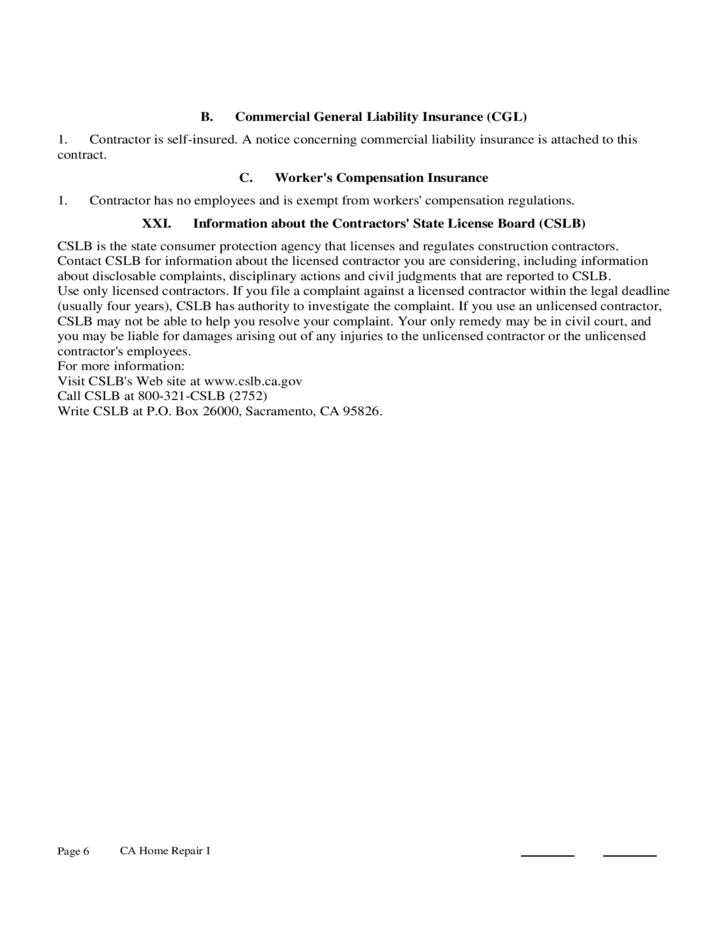 Home Improvement Contract Sample Free Download