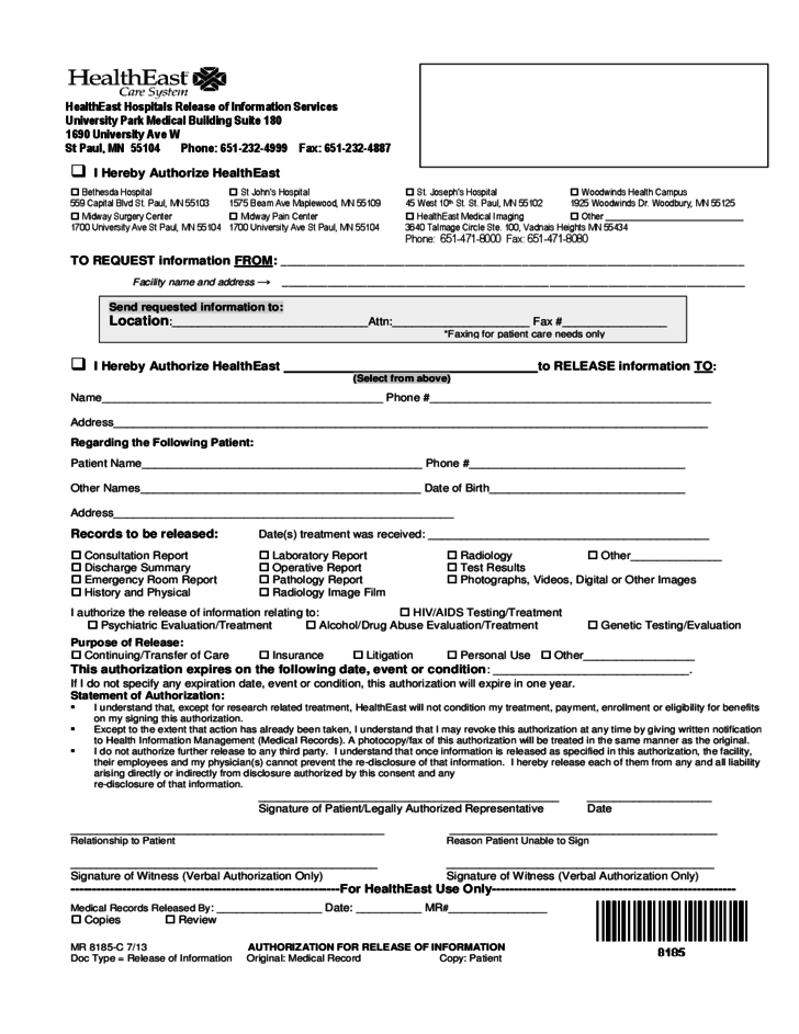 Hospital release forms template geccetackletarts hospital release sample form free download thecheapjerseys Images
