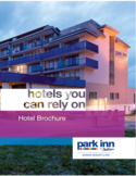 Hotel Brochure - Park Inn Free Download