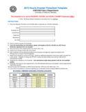2015 Hourly Exempt Timesheet Template - California Free Download