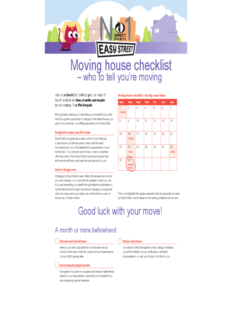 House moving checklist template 5 free templates in pdf for Checklist for building a new house