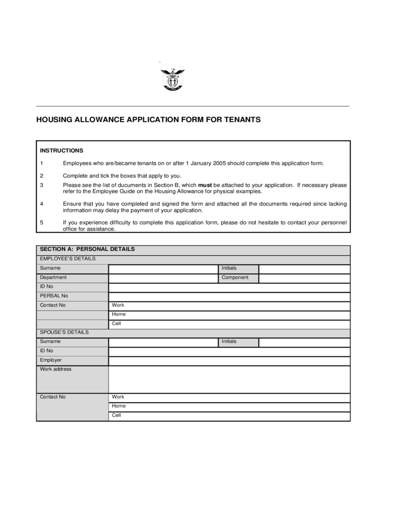 house rent allowance form 2 free templates in pdf word excel download. Black Bedroom Furniture Sets. Home Design Ideas