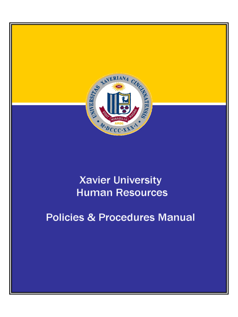 human resources policies procedures manual xavier university