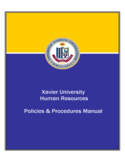 Human Resources Policies & Procedures Manual - Xavier University Free Download