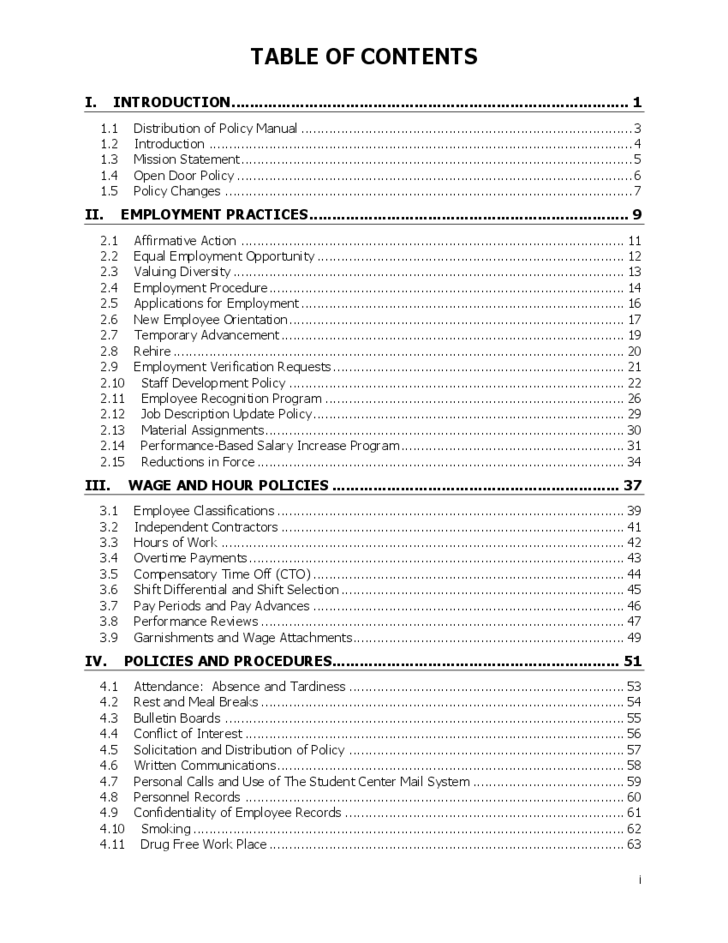 Human Resources Policy & Procedures Manual