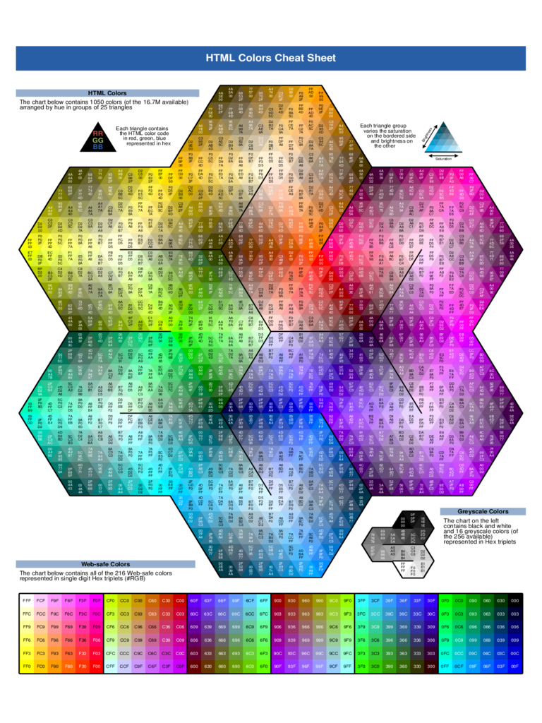 color coded calendar template - html color code chart template 4 free templates in pdf