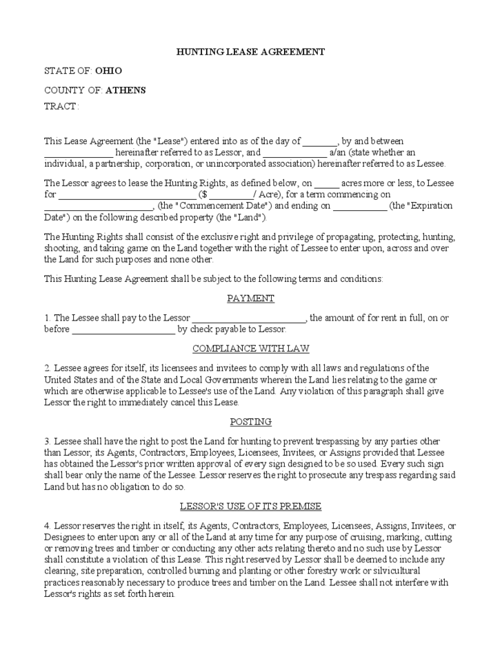 Doc510657 Land Lease Agreement Form Free Land Lease Agreement – Land Rental and Lease Form