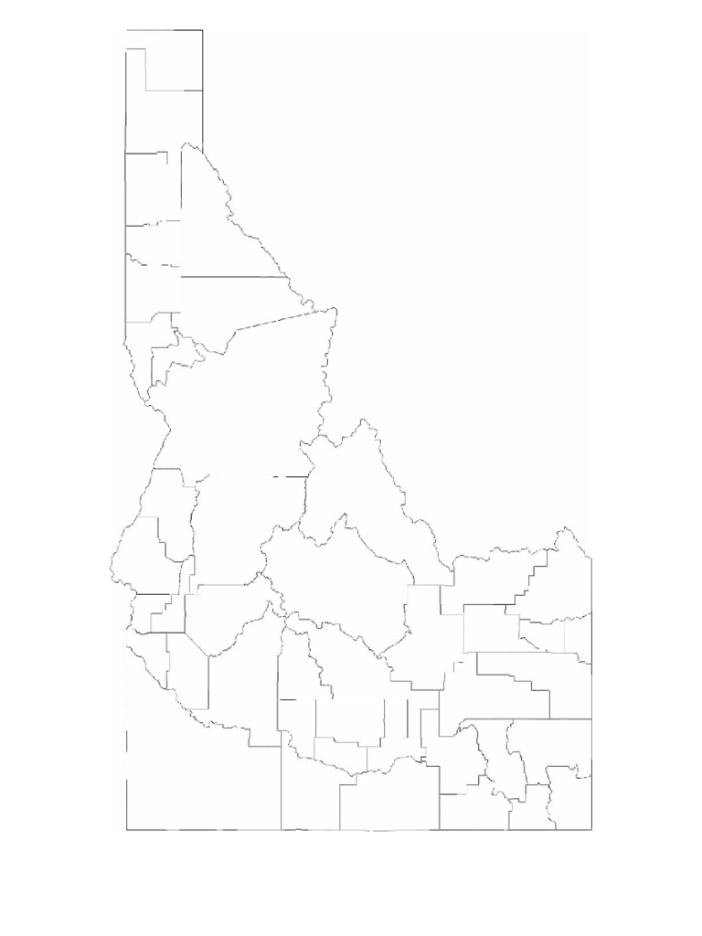 Blank Idaho County Map