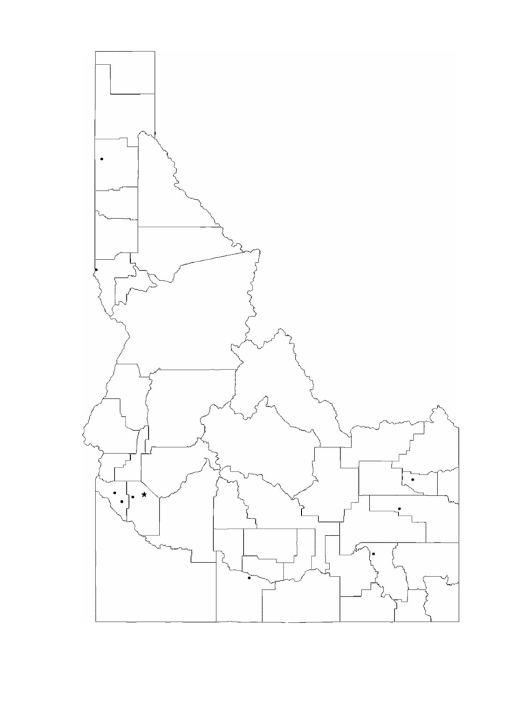 Blank Idaho City Map