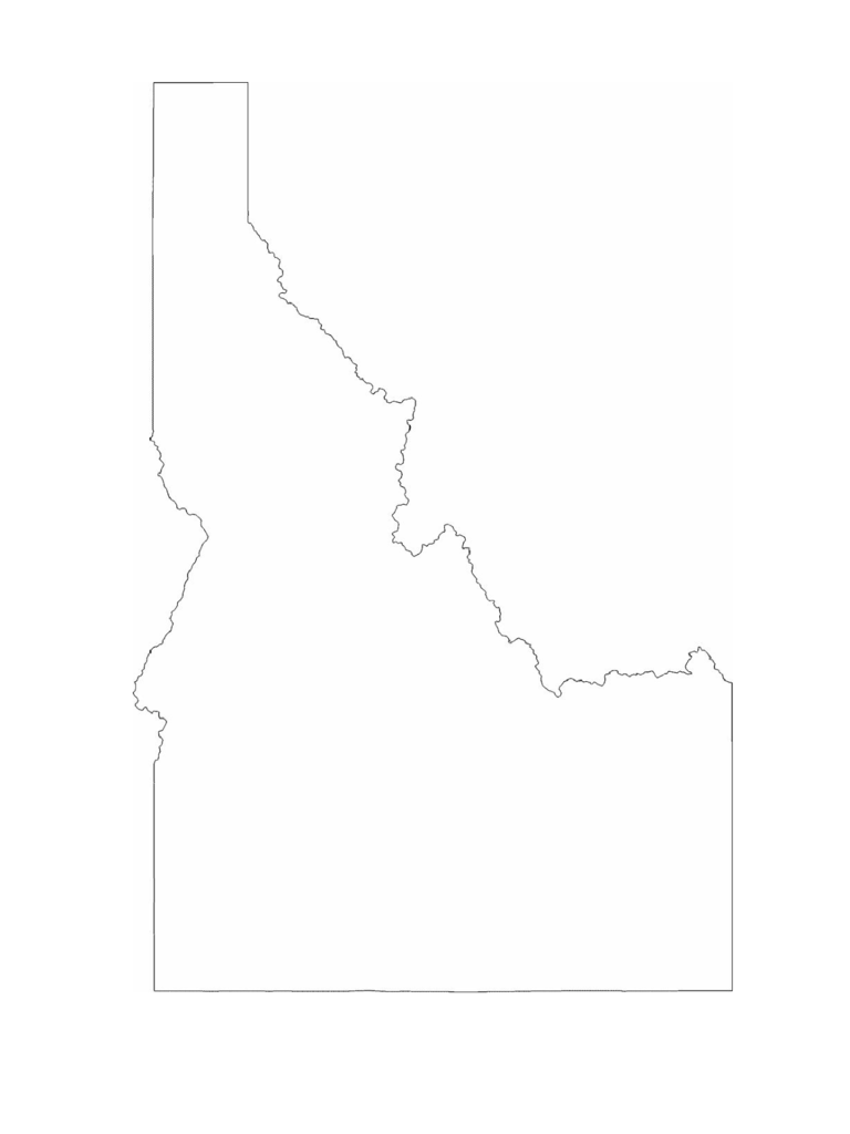 Idaho State Outline Map D