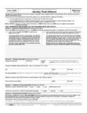 Form for Identity Theft Affidavit Free Download