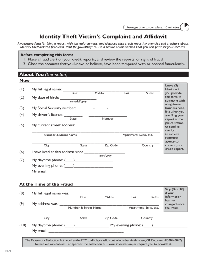 articles identity theft affidavit