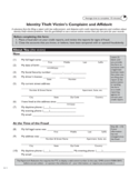 Form of Identity Theft Affidavit - California Free Download