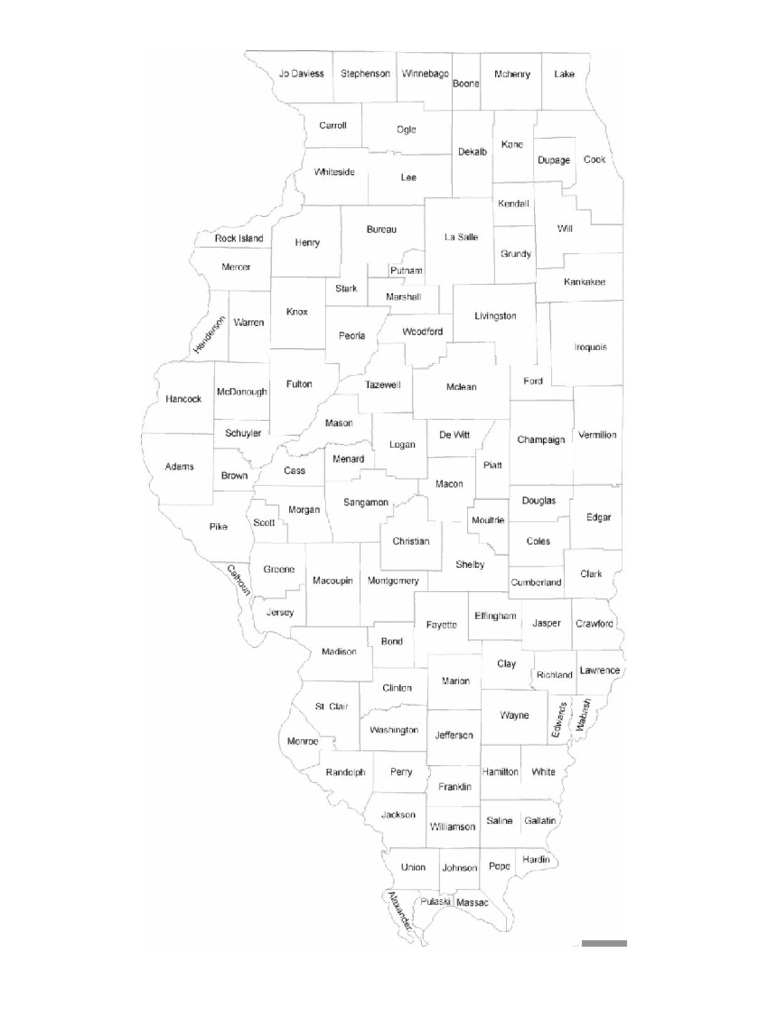 photo about Illinois County Map Printable called Illinois Map Template - 8 Free of charge Templates inside of PDF, Term, Excel