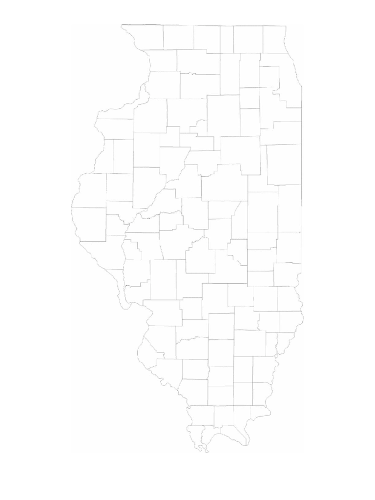 Blank Illinois County Map
