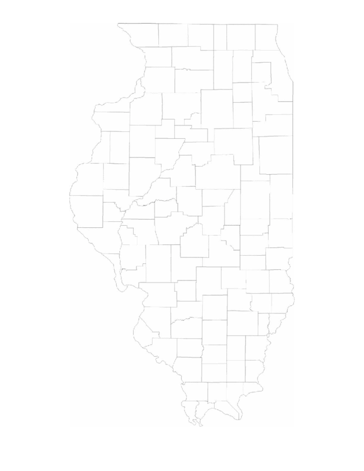 image regarding Illinois County Map Printable identified as Blank Illinois County Map No cost Obtain