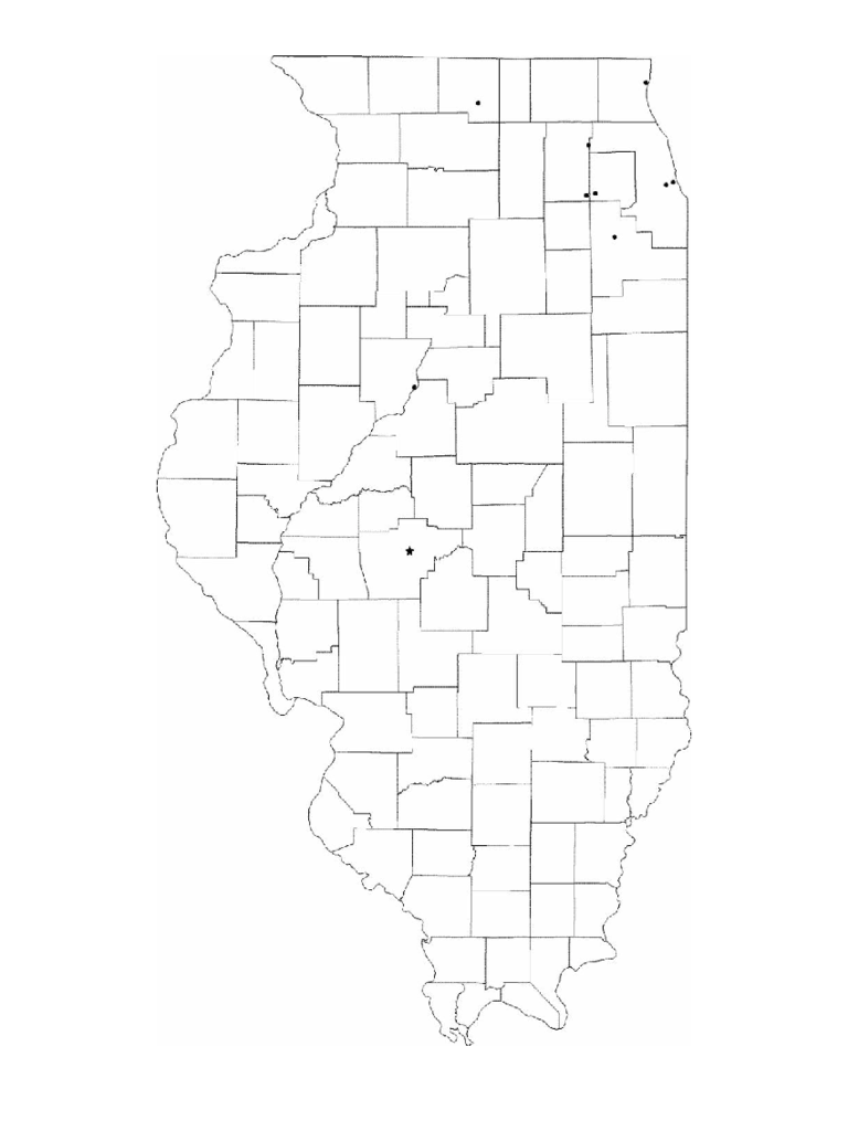 Blank Illinois City Map