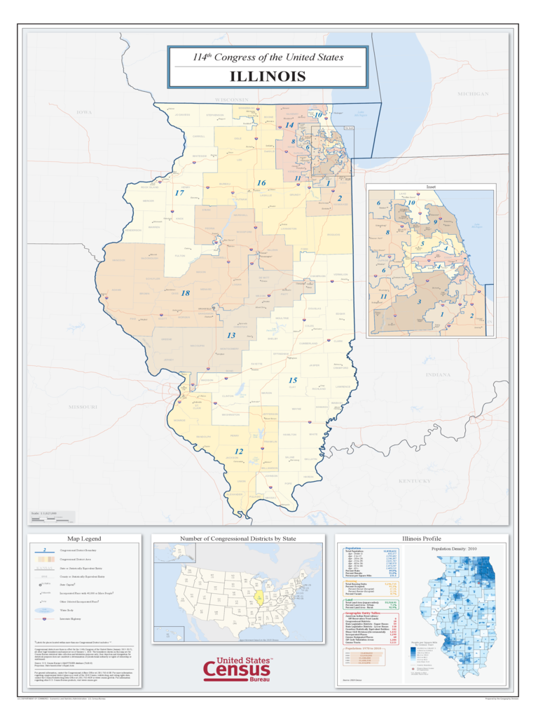 Illinois Congressional District Map