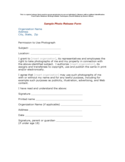 Sample Photo Release Form Free Download