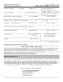 Immigration Address Change Form Free Download