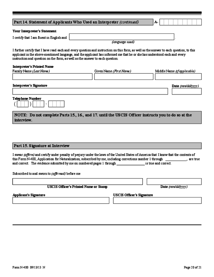 Sample Immigration Change Of Address Form Free Download