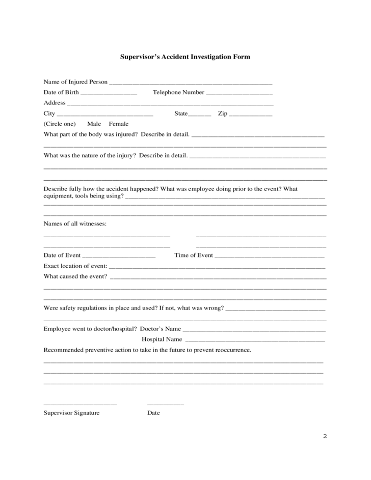 Employee's Report of Injury Form - University of Iowa Free Download