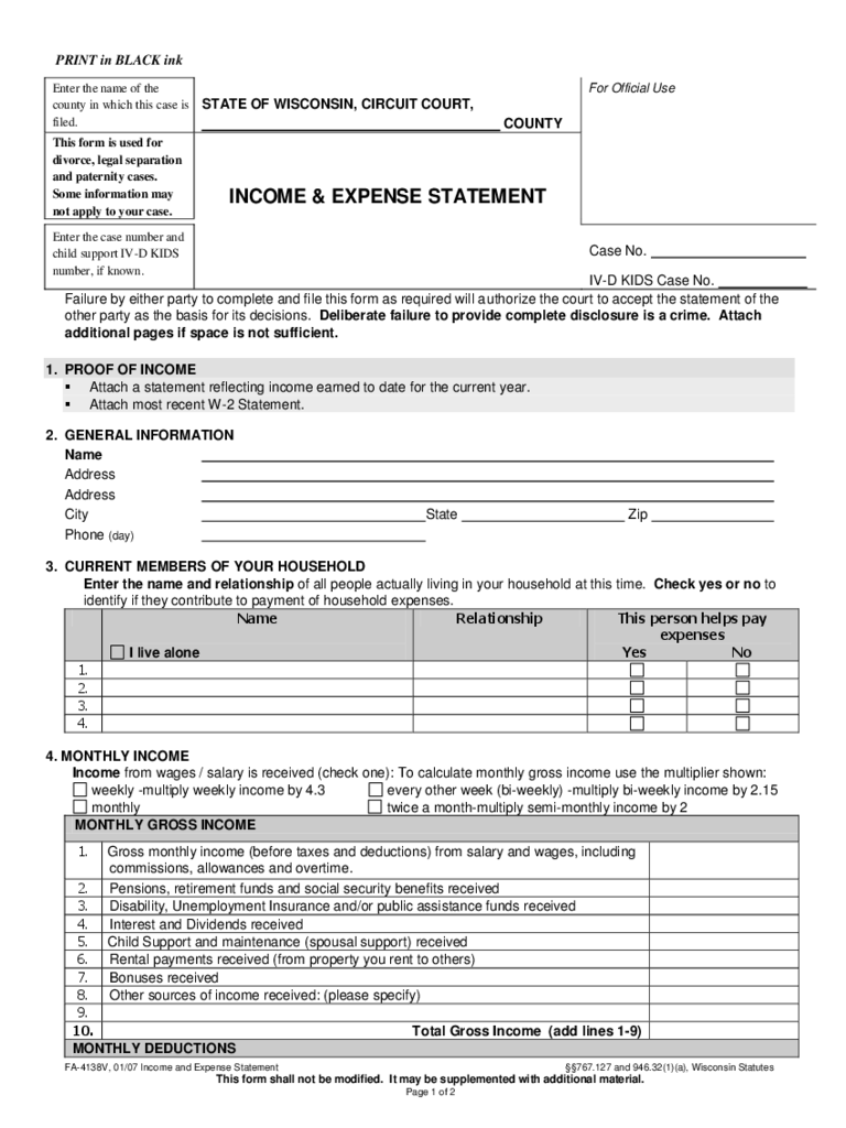 personal income expenditure statement form Income and expenditure form date sent: name: address: reference number: personal budget your income (we need to see proof of all your income) true statement of.